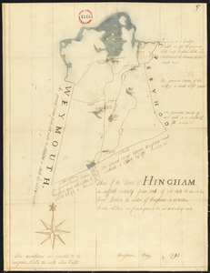 Plan of Hingham, surveyor's name not given, dated May, 1795.