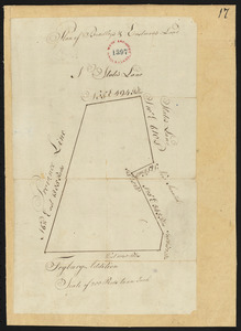 Plan of Bradley's and Eastman's Land (Stow, Me) surveyor's name not given, dated 1794-1795.