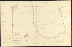 Plan of Poland (Bakerstown) surveyed by Osgood Carleton, dated 1792.