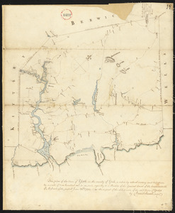 Plan of York surveyed by Daniel Sewall, dated 1794-5.