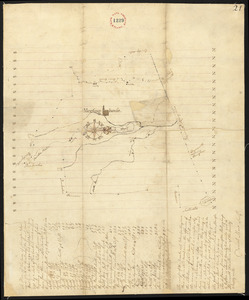 Plan of Abington, made by Daniel Shaw, dated 1795.