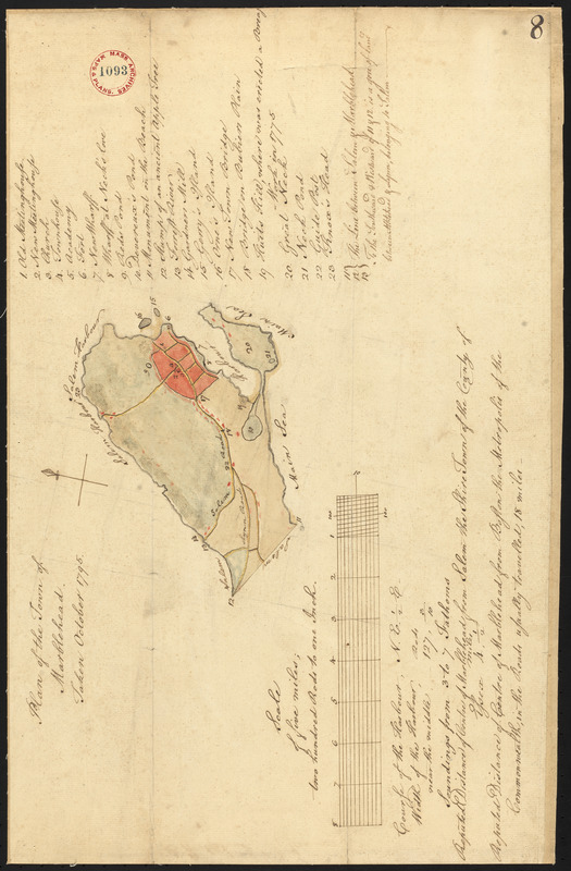 Plan of Marblehead made by Alfred Ingalls, dated October 1795.
