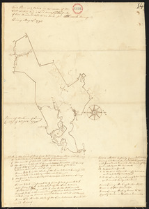 Plan of Quincy surveyed by W French, dated 1794-5.