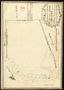 Plan of Bucksport, surveyed by Osgood Carleton, dated 1787.