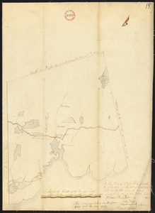 Plan of Blue Hill made by John Peters, dated 1794.