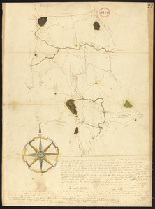 Plan of Reading and Lynnfield, made by Daniel Needham, dated November 1794. Scale 200 rds to 1 in.