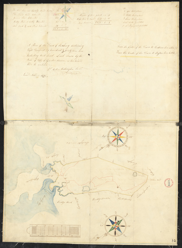 Plan of Roxbury, made by Matthew Withington, dated November 1794.