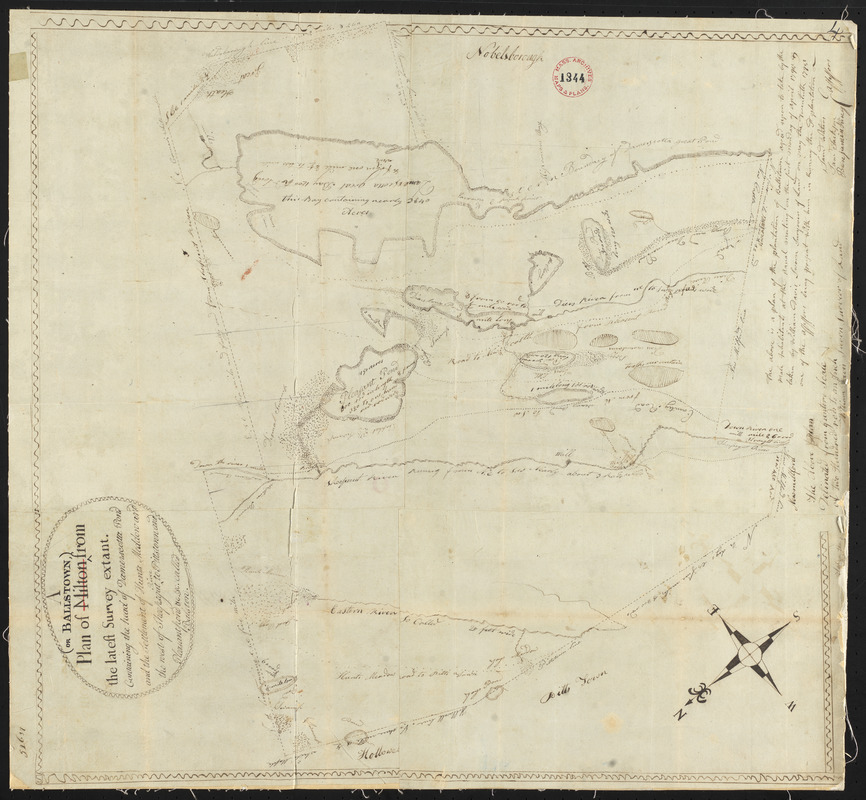 Plan of Ballstown (Jefferson and Whitefield) surveyed by William Davis, dated May 20, 1795.