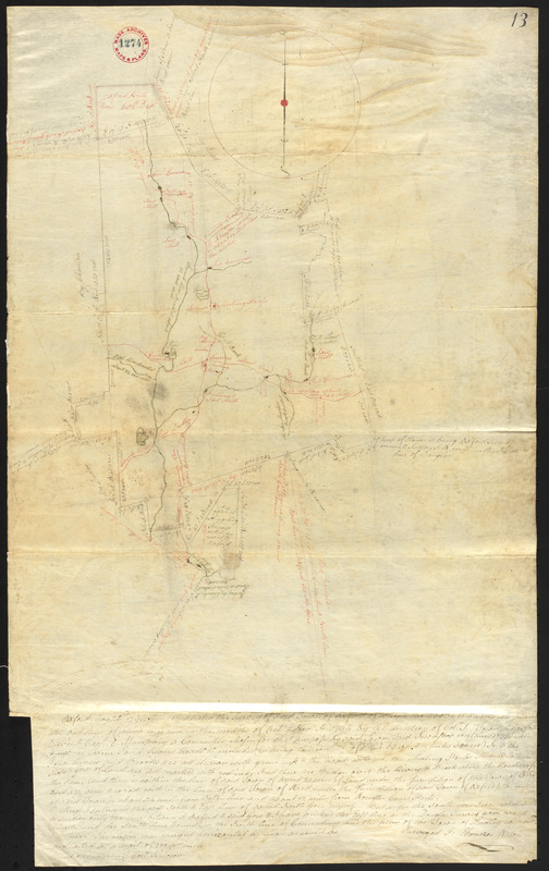 Plan of Oxford made by Ebenezer Waters, dated November 1794.