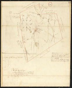 Plan of Worcester surveyed by David Andrews and John Peirce, dated April, 1795.