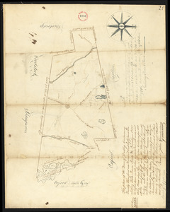Plan of Dudley surveyed by John Chamberlin dated March 17, 1795.