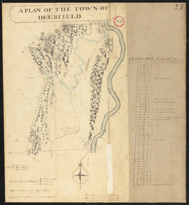 Plan of Deerfield surveyed by D. Hoit, Jr. dated December 1794.
