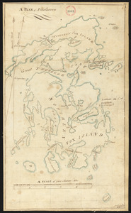 "Plan of Vinalhaven made by J. Vinal, in 1786. Scale 200rds to 1""."