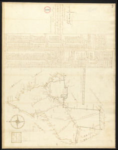Plan of Holliston surveyed by Samuel Bullard, dated 1794.