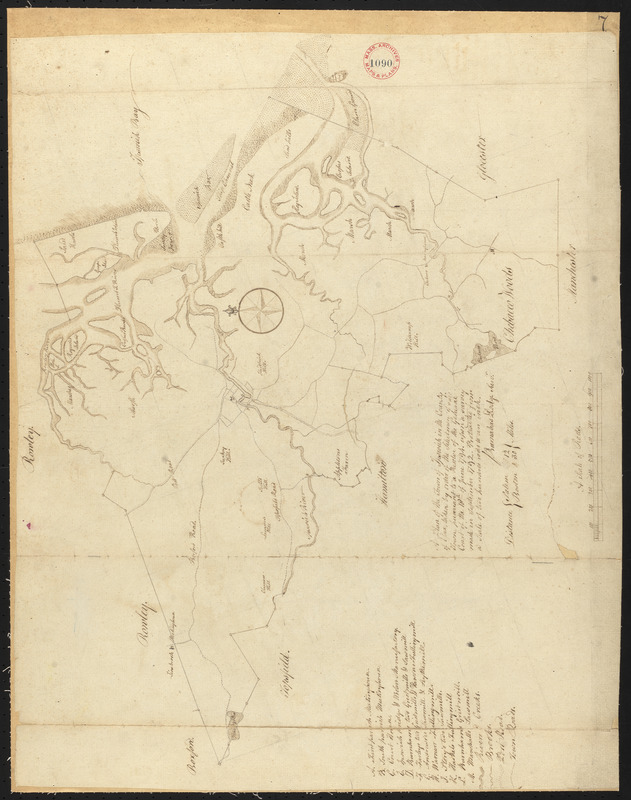Plan of Ipswich, made by Barnabas Dodge, dated 1794-5.