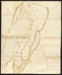 Plan of Bowdoinham made by Ephraim Ballard and Sylverster J. Moore, dated April, 1795.