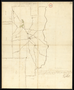 Plan of Belchertown, surveyor's name not given, dated December, 1794.