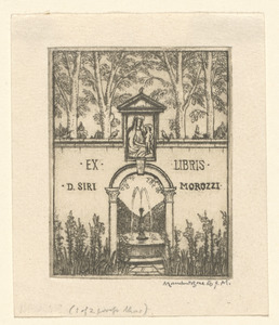 Book-plate of Don Siro Morozzi