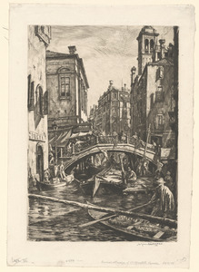 Canal & bridge of S.S. Apostoli, Venice