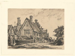 Old houses, Blythburgh, Suffolk, 1930