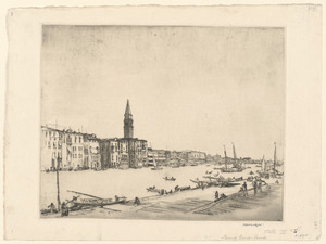 The Grand Canal, Venice, from the Salute