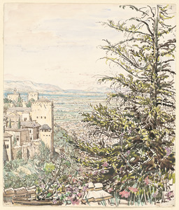 The Alhambra from the Generaliffe, Granada