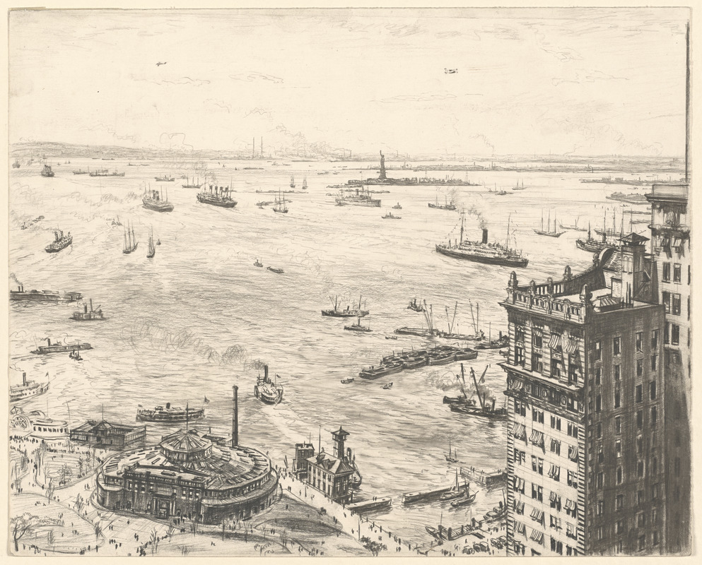 New York Harbour from the top of the Cunard Building