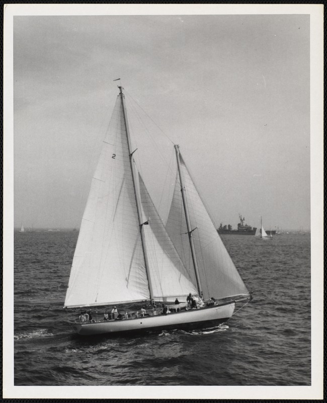 "1966 - Newport - Bermuda Race No. 2 - Schooner - ""NINA"" (winner in 1962)"