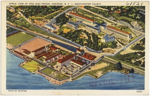 Aerial view of Sing Sing Prison, Ossining, N. Y. -- Westchester County