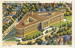 Aerial view of Schenley High School, Pittsburgh, Pa.