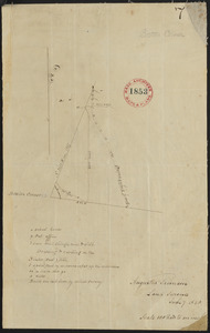 Plan of Boston Corner made by Augustus Tremain, dated June 7, 1840