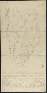 Plan of Dana made by Ephraim Whipple, dated May 18, 1831