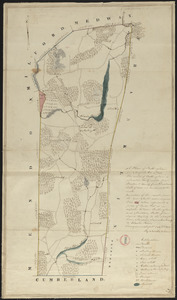 Plan of Bellingham made by Newell Nelson, dated September 1830