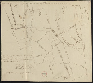 Plan of Goshen made by William Abell dated July 6, 1839