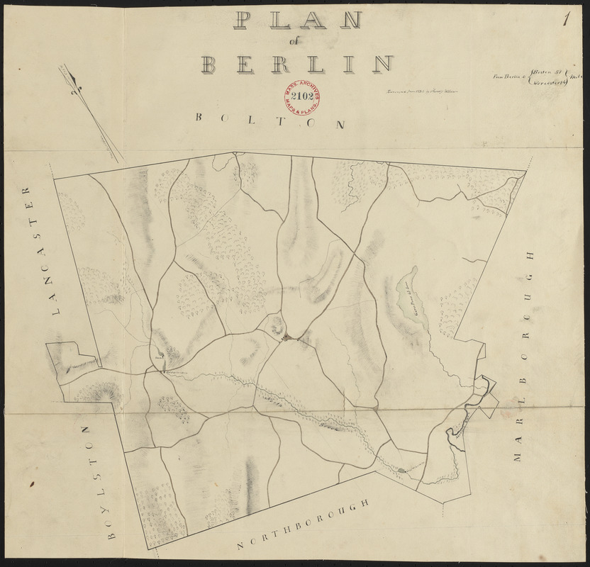 Plan of Berlin made by Henry Wilder, dated June 1830