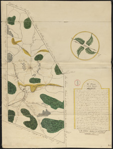 Plan of Millbury made by Hervey Peirce, dated January 1831