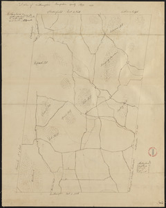 Plan of Westhampton, surveyor's name not given, dated 1831