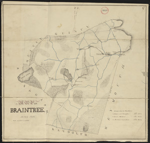 Plan of Braintree, surveyor's name not given, dated 1831