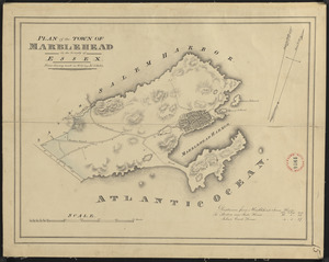 Plan of Marblehead made by John G. Hales, dated 1830