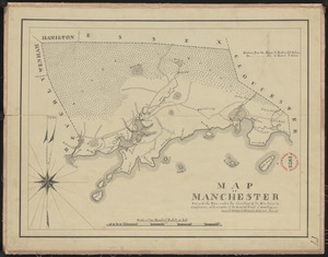 Plan of Manchester made by Philander Anderson, dated December 1830
