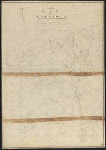Plan of Uxbridge made by Abiel Jaques, dated 1830