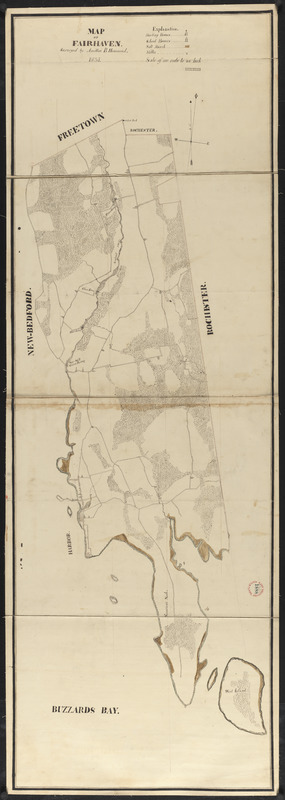 Plan of Fairhaven made by Ammittai B. Hammond, dated 1831