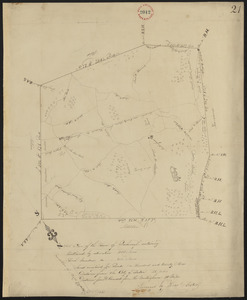 Plan of Boxborough made by Hoar and Foster, dated September 1, 1831