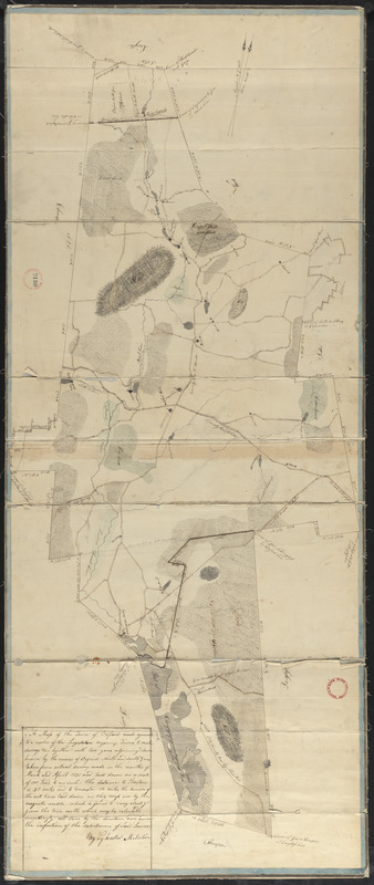 Plan of Oxford made by Sylvester McIntyre, dated April 1830