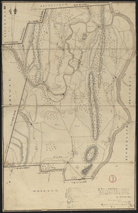 Plan of Deerfield made by Arthur W. Hoyt, dated 1830