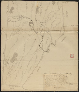 Plan of Sturbridge made by David Wright, dated October 1831