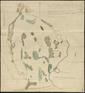 Plan of Sherborn made by Dalton Goulding, dated 1831