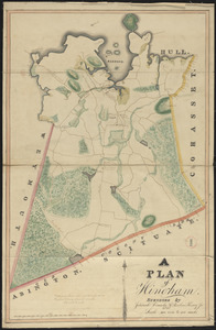 Plan of Hingham made by Jedediah Lincoln and Reuben Hersey, Jr., dated 1830