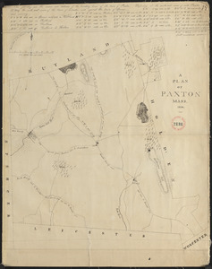 Plan of Paxton, surveyor's name not given, dated 1830