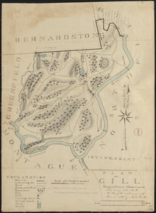 Plan of Gill made by Josiah Gould, dated 1830